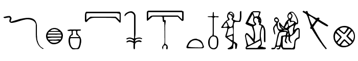 PharaohGlyph Medium Font UPPERCASE