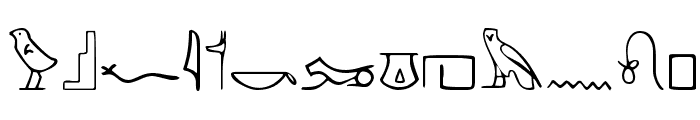 PharaohGlyph Medium Font LOWERCASE