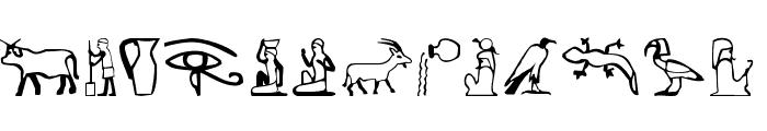 Pharaoh Font LOWERCASE