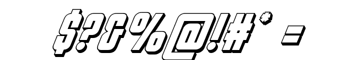 Philadelphia 3D Italic Font OTHER CHARS