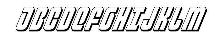 Philadelphia 3D Italic Font UPPERCASE