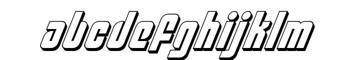Philadelphia 3D Italic Font LOWERCASE