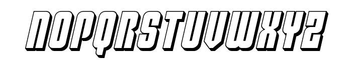 Philadelphia 3D Semi-Italic Font UPPERCASE