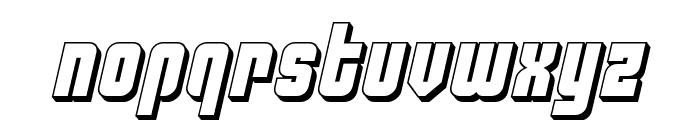 Philadelphia 3D Semi-Italic Font LOWERCASE