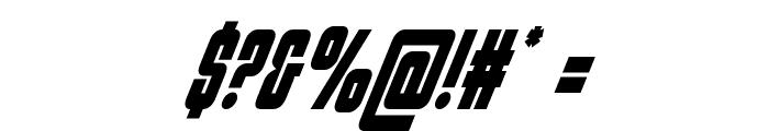Philadelphia Condensed Italic Font OTHER CHARS