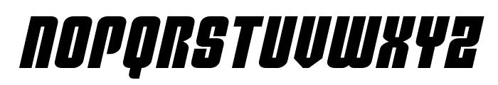 Philadelphia Expanded Semi-Italic Font UPPERCASE
