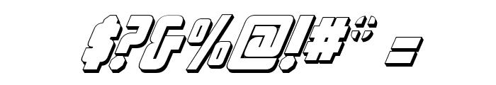 Philadelphia Italic 3D Font OTHER CHARS