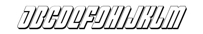 Philadelphia Italic 3D Font UPPERCASE