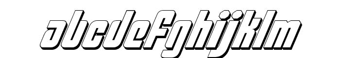 Philadelphia Italic 3D Font LOWERCASE