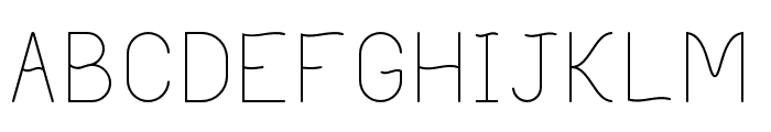 Philippine Light Font LOWERCASE