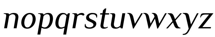 Philosopher Italic Font LOWERCASE