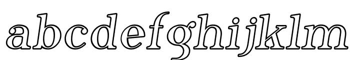 Phosphorus Iodide Font LOWERCASE