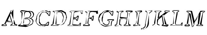 Phosphorus Oxide Font UPPERCASE