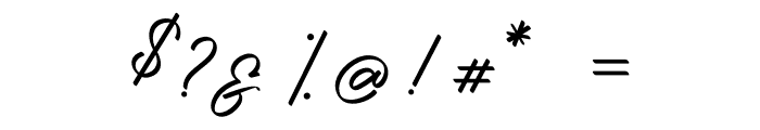 Photograph Signature Font OTHER CHARS