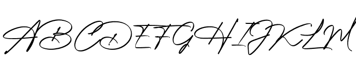 Photograph Signature Font UPPERCASE