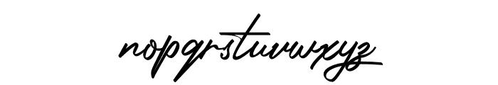 Photograph Signature Font LOWERCASE