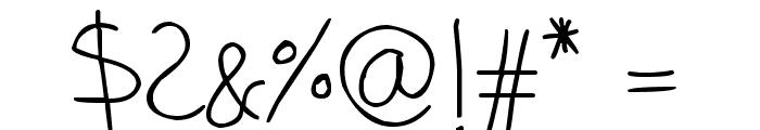 phitradesign Handwritten Thin Font OTHER CHARS