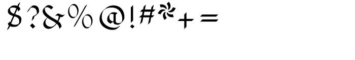 Pheder Frack Regular Font OTHER CHARS
