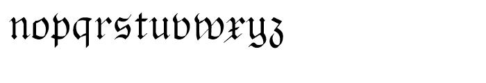 Pheder Frack Regular Font LOWERCASE