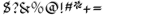 Pheder Frack Shadowed Font OTHER CHARS
