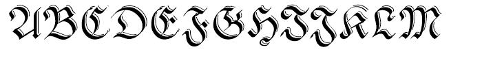 Pheder Frack Shadowed Font UPPERCASE