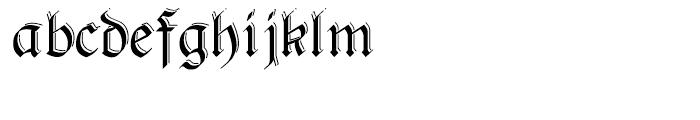Pheder Frack Shadowed Font LOWERCASE