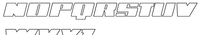 Phet Outline Oblique Font UPPERCASE