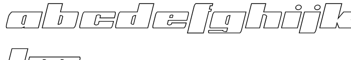 Phet Outline Oblique Font LOWERCASE