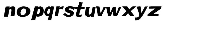 Phoenix Chunky Italic Font LOWERCASE