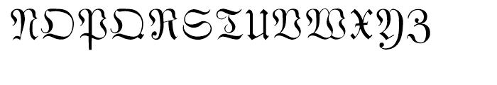Phraxtured Regular Font UPPERCASE