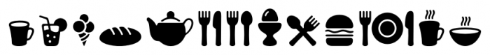 PH Icons Food Black Font UPPERCASE