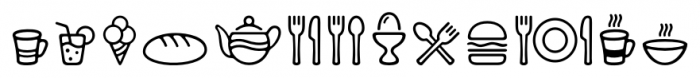 PH Icons Food Font UPPERCASE