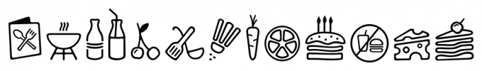 PH Icons Food Font LOWERCASE