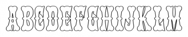 PhanitalianOutline Regular Font UPPERCASE