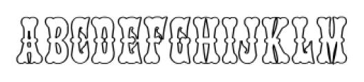 PhanitalianOutline Regular Font LOWERCASE