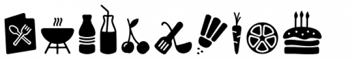 PH Icons Food Black Font LOWERCASE