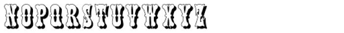 Phanitalian Shadow Font LOWERCASE