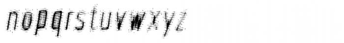 Phantom Oblique Font LOWERCASE