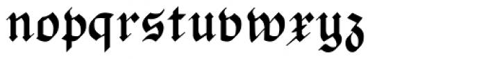 PhederFrack Bold Font LOWERCASE