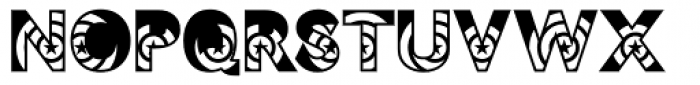 Philadelphia Reversed Font UPPERCASE