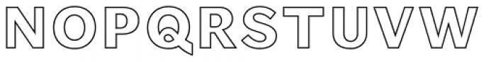 Phiz Inline Font UPPERCASE