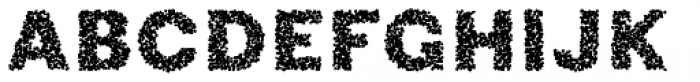Phiz Particles One Font UPPERCASE