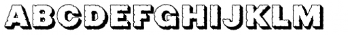 Phiz Rough Shadow Font LOWERCASE