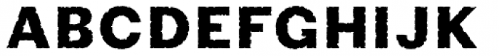 Phiz Rough Font UPPERCASE