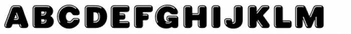 Phiz Rounded Highlight Font LOWERCASE