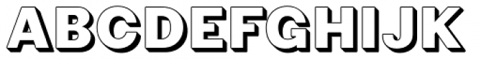 Phiz Shadow Font UPPERCASE