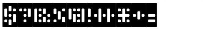 Phlex Round Negative Font OTHER CHARS