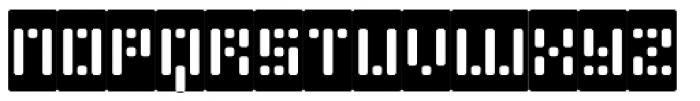 Phlex Round Negative Font UPPERCASE