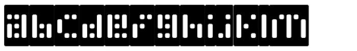 Phlex Round Negative Font LOWERCASE