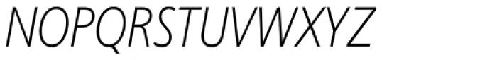 Phoenica Std Cond Light Italic Font UPPERCASE